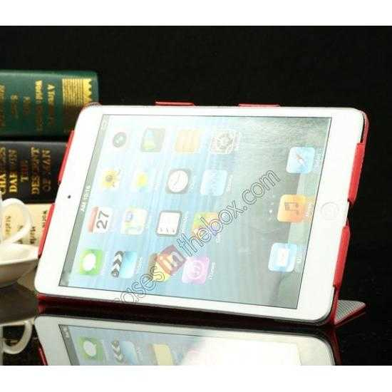 on sale K-cool Ultra Thin Slim Leather Stand Case for iPad Mini 2 Retina - Red