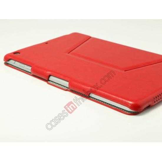 low price K-cool Ultra Thin Slim Leather Stand Case for iPad Mini 2 Retina - Red