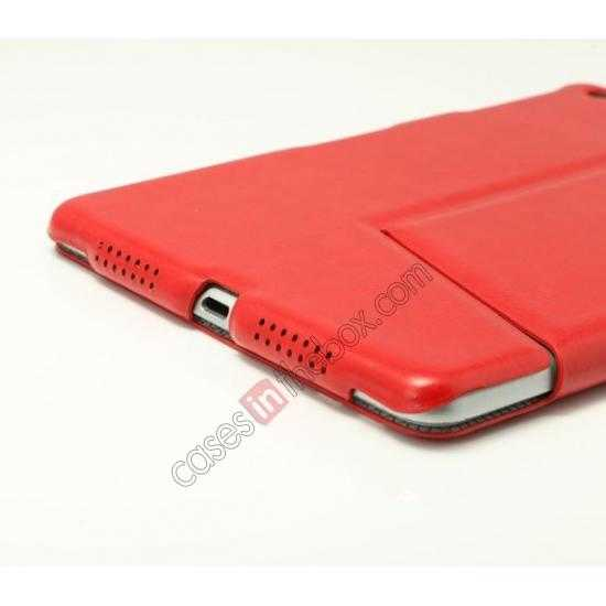 high quanlity K-cool Ultra Thin Slim Leather Stand Case for iPad Mini 2 Retina - Red