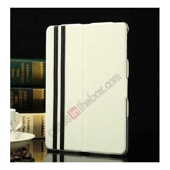 wholesale K-cool Ultra Thin Slim Leather Stand Case for iPad Mini 2 Retina - White