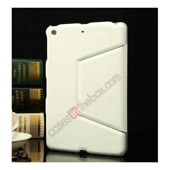 discount K-cool Ultra Thin Slim Leather Stand Case for iPad Mini 2 Retina - White