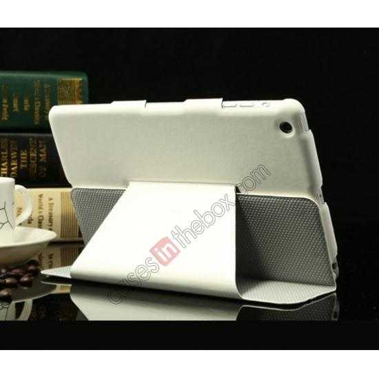 cheap K-cool Ultra Thin Slim Leather Stand Case for iPad Mini 2 Retina - White