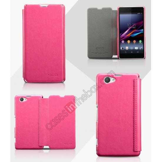 wholesale KLD Enland Series PU Leather Flip Case Cover for Sony Xperia Z1 Mini M51W - Rose