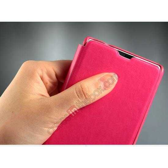 on sale KLD Enland Series PU Leather Flip Case Cover for Sony Xperia Z1 Mini M51W - Rose