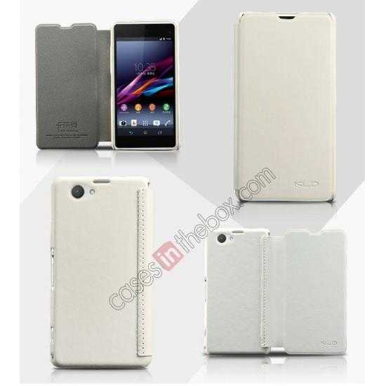 wholesale KLD Enland Series PU Leather Flip Case Cover for Sony Xperia Z1 Mini M51W - White