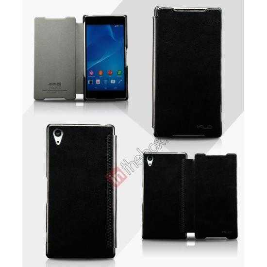 wholesale KLD Enland Slim Leather Side Flip Case for Sony Xperia Z2 - Black