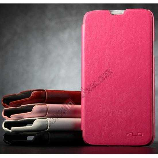 cheap KLD Enland Slim PU Leather Flip Case Cover Pouch for Samsung Galaxy S5 G900 - Red