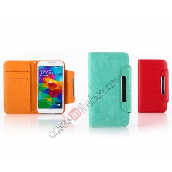 cheap KLD Fresh Style Wallet Stand Folio Leather Case Cover for Samsung Galaxy S5