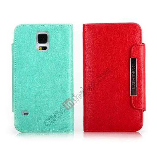 wholesale KLD Fresh Style Wallet Stand Folio Leather Case Cover for Samsung Galaxy S5