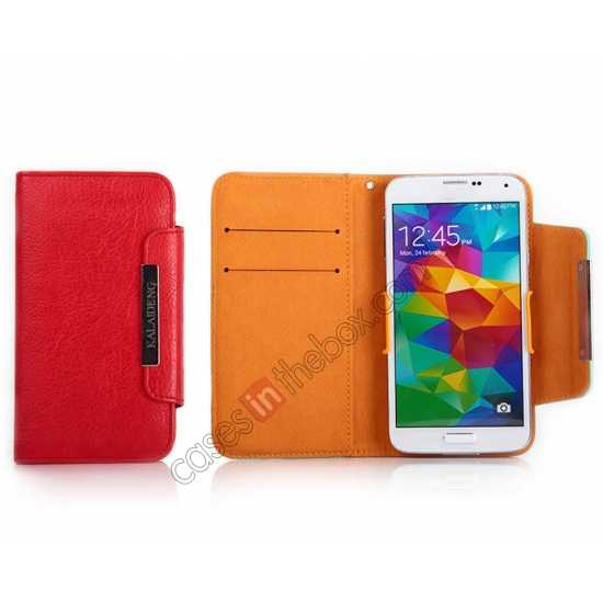 best price KLD Fresh Style Wallet Stand Folio Leather Case Cover for Samsung Galaxy S5