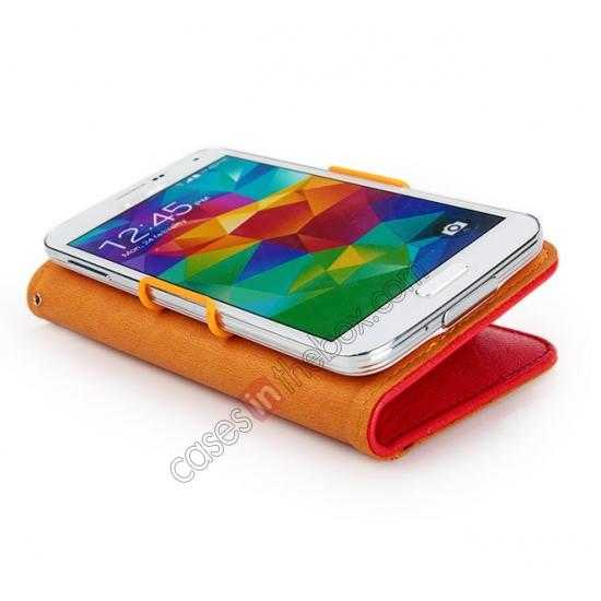 on sale KLD Fresh Style Wallet Stand Folio Leather Case Cover for Samsung Galaxy S5