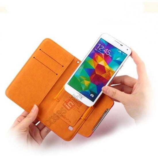 high quanlity KLD Fresh Style Wallet Stand Folio Leather Case Cover for Samsung Galaxy S5