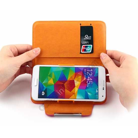 low price KLD Fresh Style Wallet Stand Folio Leather Case Cover for Samsung Galaxy S5
