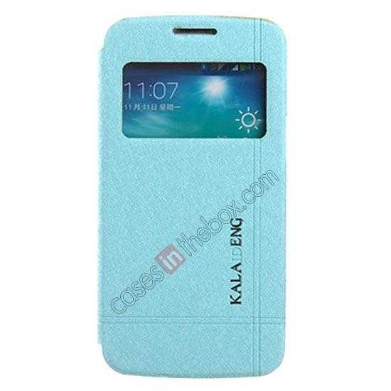 wholesale KLD Iceland Series Ultra-slim Side Flip Leather Case for Samsung Galaxy S5 - Blue
