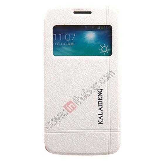 wholesale KLD Iceland Series Ultra-slim Side Flip Leather Case for Samsung Galaxy S5 - White