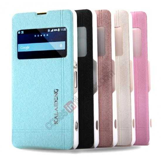 wholesale KLD Iceland Series Ultra-slim Side Flip Leather Case for SONY XPERIA Z1 MINI