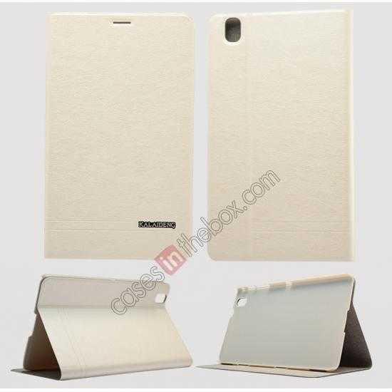 wholesale KLD KA Series Leather Stand Case for Samsung Galaxy Tab Pro 8.4 T320 - Beige