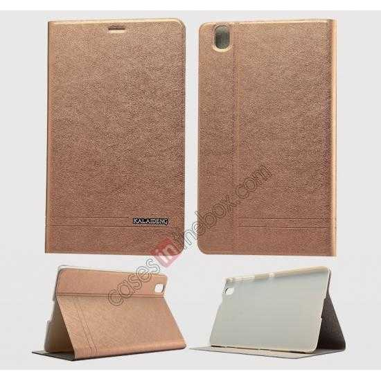 wholesale KLD KA Series Leather Stand Case for Samsung Galaxy Tab Pro 8.4 T320 - Coffee