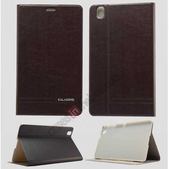 wholesale KLD KA Series Leather Stand Case for Samsung Galaxy Tab Pro 8.4 T320 - Dark Grey