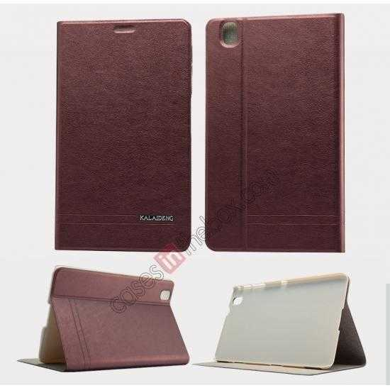 wholesale KLD KA Series Leather Stand Case for Samsung Galaxy Tab Pro 8.4 T320 - Wine Red