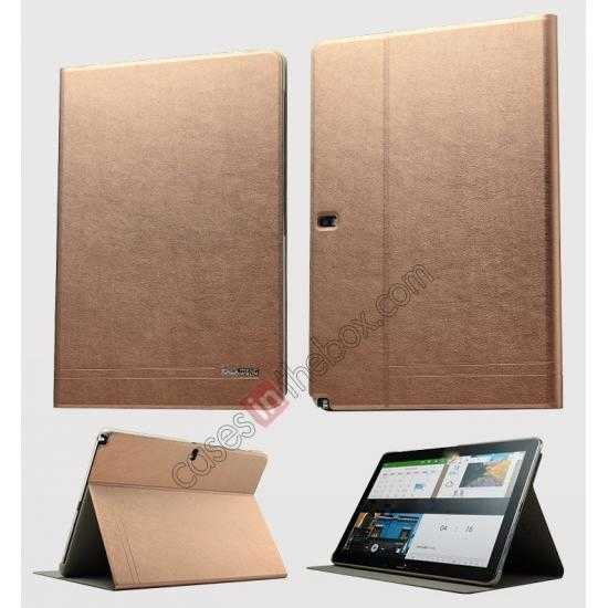 wholesale KLD KA Series Ultra-thin Leather Stand Case for Samsung Galaxy Tab Pro 12.2 P900 - Coffee