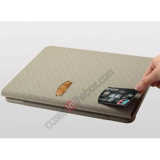 best price KLD KA Series Ultra-thin Leather Stand Case for Samsung Galaxy Tab Pro 12.2 P900 - Coffee