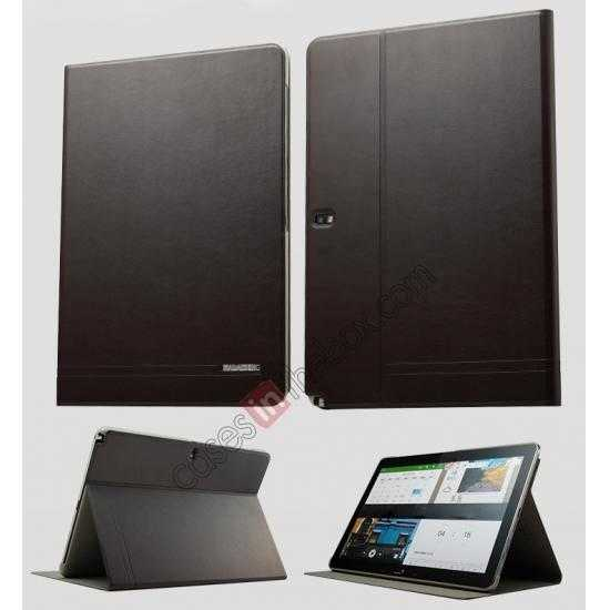 wholesale KLD KA Series Ultra-thin Leather Stand Case for Samsung Galaxy Tab Pro 12.2 P900 - Dark Grey