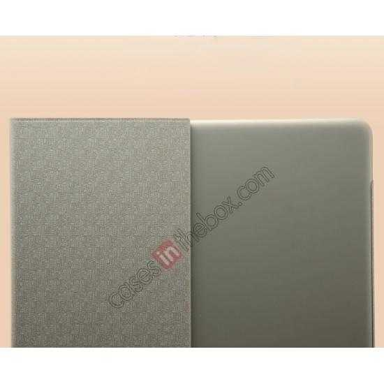 top quality KLD KA Series Ultra-thin Leather Stand Case for Samsung Galaxy Tab Pro 12.2 P900 - Dark Grey