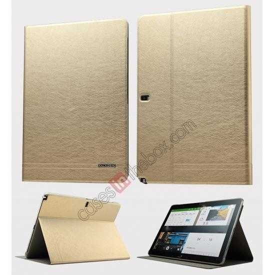 wholesale KLD KA Series Ultra-thin Leather Stand Case for Samsung Galaxy Tab Pro 12.2 P900 - Gold