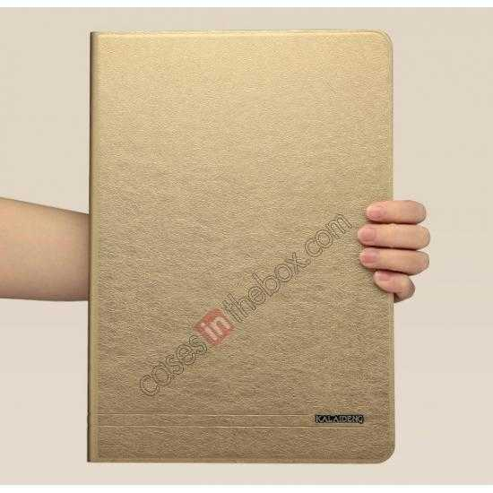 China leading wholesale KLD KA Series Ultra-thin Leather Stand Case for Samsung Galaxy Tab Pro 12.2 P900 - Gold