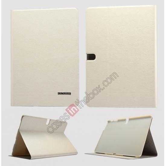 wholesale KLD KA Series Ultra-thin & Ultra-light Leather Stand Case for Samsung Galaxy Tab Pro 10.1 T520 - Beige