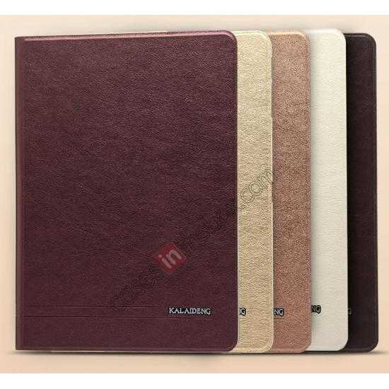 low price KLD KA Series Ultra-thin & Ultra-light Leather Stand Case for Samsung Galaxy Tab Pro 10.1 T520 - Beige