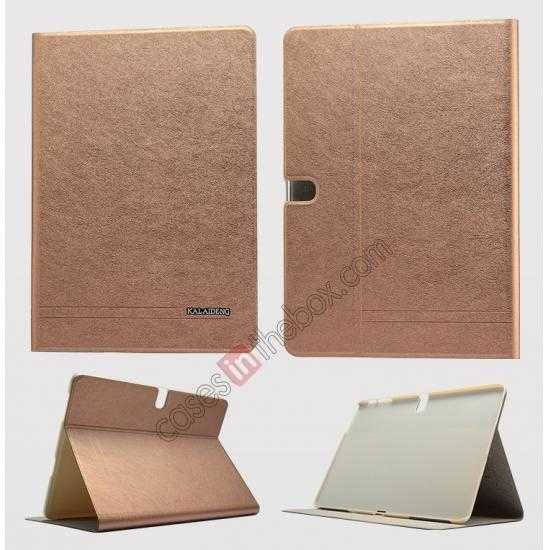 wholesale KLD KA Series Ultra-thin & Ultra-light Leather Stand Case for Samsung Galaxy Tab Pro 10.1 T520 - Coffee