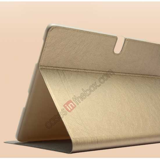 cheap KLD KA Series Ultra-thin & Ultra-light Leather Stand Case for Samsung Galaxy Tab Pro 10.1 T520 - Coffee
