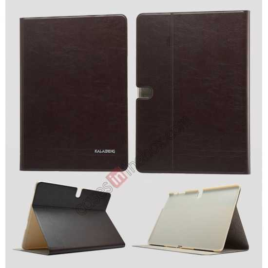 wholesale KLD KA Series Ultra-thin & Ultra-light Leather Stand Case for Samsung Galaxy Tab Pro 10.1 T520 - Dark Grey