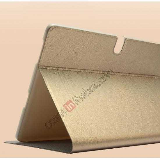 best price KLD KA Series Ultra-thin & Ultra-light Leather Stand Case for Samsung Galaxy Tab Pro 10.1 T520 - Golden