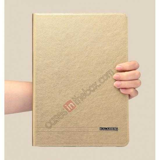 china wholesale KLD KA Series Ultra-thin & Ultra-light Leather Stand Case for Samsung Galaxy Tab Pro 10.1 T520 - Golden