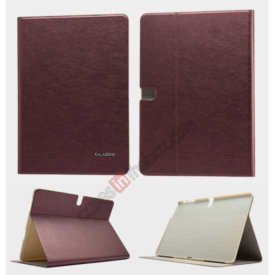 wholesale KLD KA Series Ultra-thin & Ultra-light Leather Stand Case for Samsung Galaxy Tab Pro 10.1 T520 - Wine Red