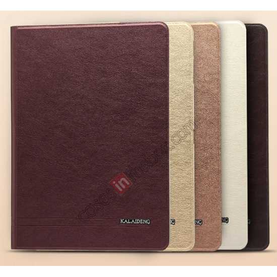 low price KLD KA Series Ultra-thin & Ultra-light Leather Stand Case for Samsung Galaxy Tab Pro 10.1 T520 - Wine Red