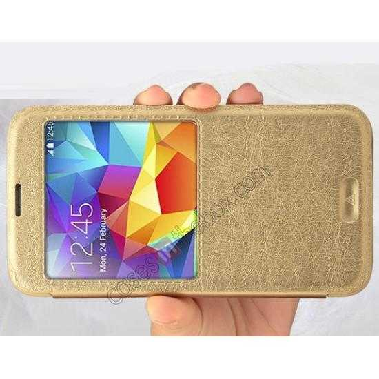 best price KLD KA Series View Window Leather Flip Case for Samsung Galaxy S5 with Sleep Function