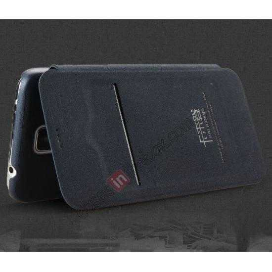 on sale KLD Oscar II Series Leather Card Holder Stand Case for Samsung Galaxy S5 - Navy Blue