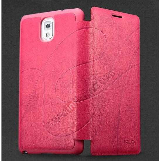 discount KLD Oscar II Series Leather Card Holder Stand Case for Samsung Galaxy S5 - Rose