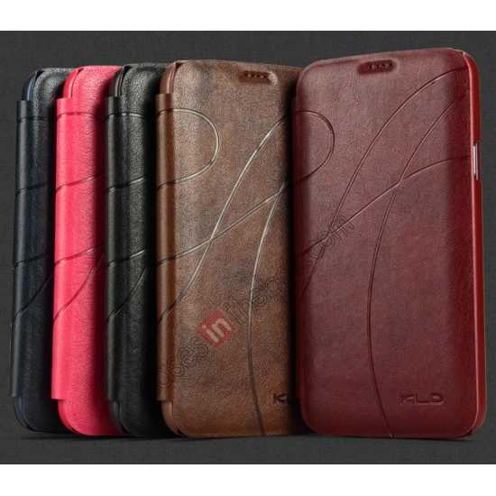 high quanlity KLD Oscar II Series Leather Card Holder Stand Case for Samsung Galaxy S5 - Rose