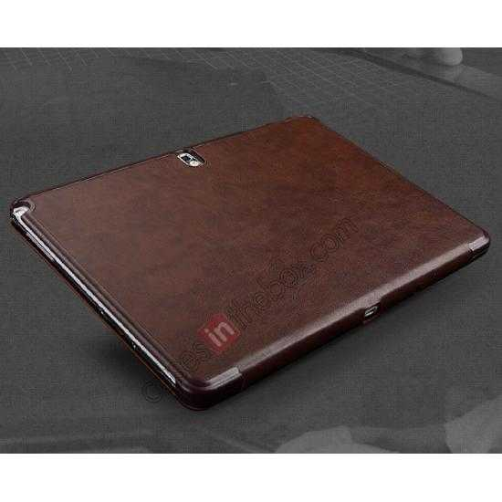 top quality KLD Oscar Series Tri-fold Smart Wake / Sleep Leather Case for Samsung Galaxy Tab Pro 10.1 T520 - Coffee