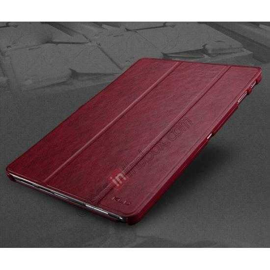 top quality KLD Oscar Series Tri-fold Smart Wake / Sleep Leather Case for Samsung Galaxy Tab Pro 10.1 T520 - Wine Red