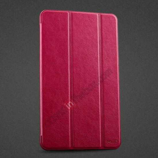 wholesale KLD Oscar Series Tri-fold Smart Wake / Sleep Leather Case for Samsung Galaxy Tab Pro 8.4 T320 - Hot Pink