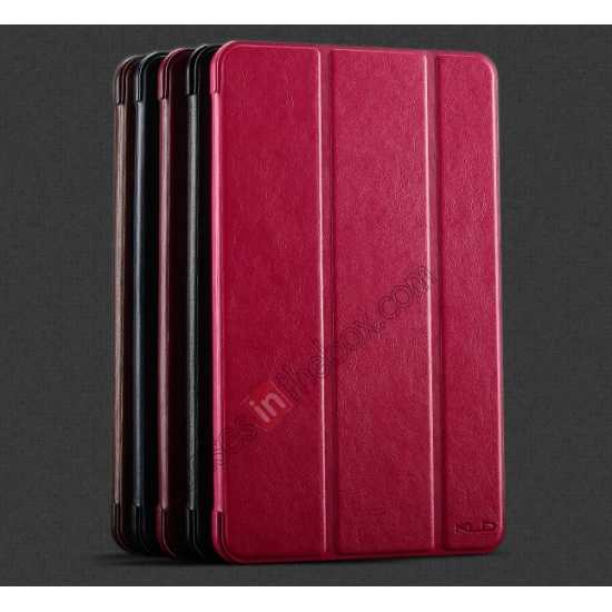 high quanlity KLD Oscar Series Tri-fold Smart Wake / Sleep Leather Case for Samsung Galaxy Tab Pro 8.4 T320 - Hot Pink