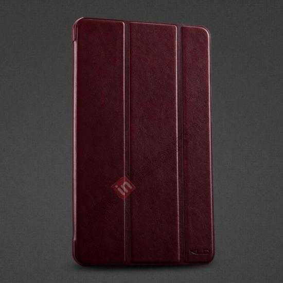 wholesale KLD Oscar Series Tri-fold Smart Wake / Sleep Leather Case for Samsung Galaxy Tab Pro 8.4 T320 - Wine Red