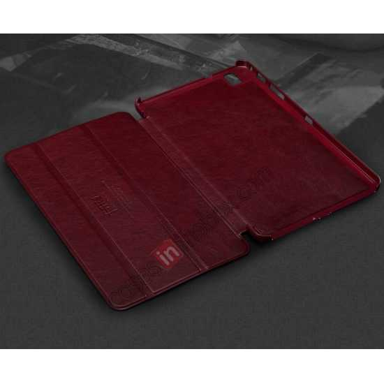 top quality KLD Oscar Series Tri-fold Smart Wake / Sleep Leather Case for Samsung Galaxy Tab Pro 8.4 T320 - Wine Red
