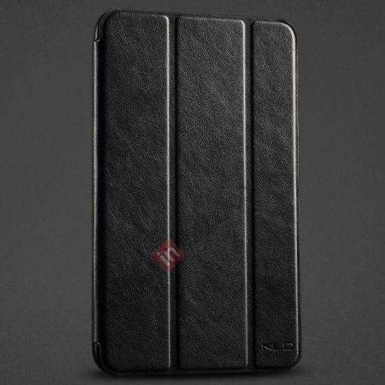 wholesale KLD Oscar Series Tri Folded Leather Stand Case for Samsung Galaxy Tab 3 Lite 7 T110 - Black